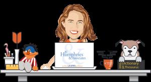 Jenn Humphries at her laptop